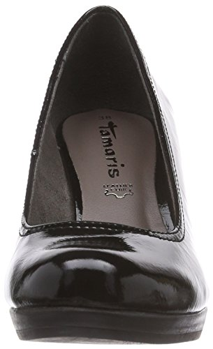 Tamaris 22409, Chaussures à talons - Avant du pieds couvert femme Noir (Black Patent 018)