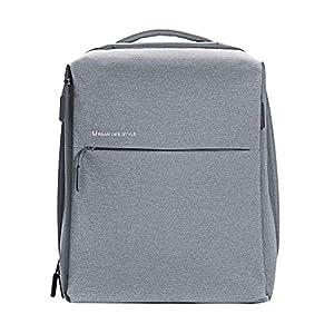 Xiaomi Mi City, Mochila para Portátiles y netbooks (Poliéster, Gris, Monótono, Unisex, 33 cm (13″) – 35.6 cm (14″), Gris