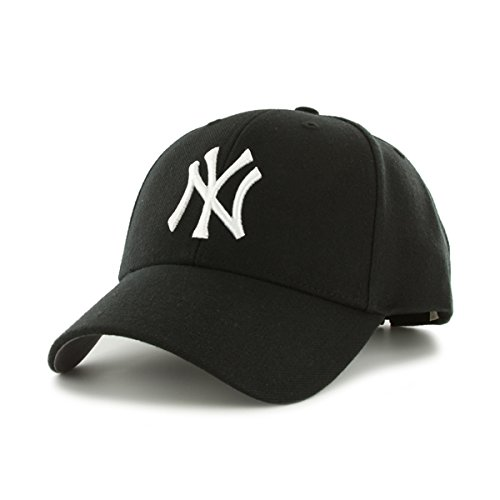 47 Unisex MLB New York Yankees MVP Baseball Cap, NY Yankees Black, One Size