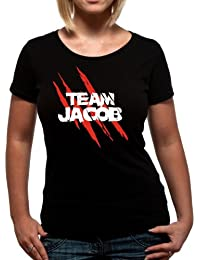 "T-Shirt T Shirt Femme  Noir Twilight ""Team Jacob"" (Taille XL)"