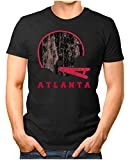 OM3® - Atlanta-Helm - T-Shirt | Herren | American Football Shirt | L, Schwarz
