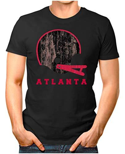 OM3® - Atlanta-Helm - T-Shirt | Herren | American Football Shirt | M, Schwarz