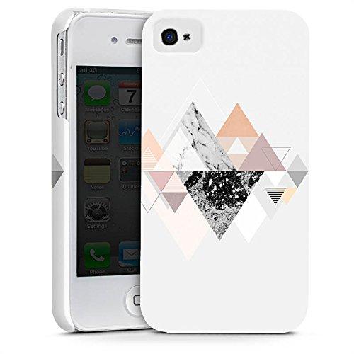 Apple iPhone X Silikon Hülle Case Schutzhülle Abstrakt Dreieck Art Premium Case glänzend
