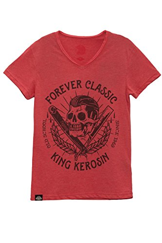 King Kerosin T-Shirt Forever Classic Red Red