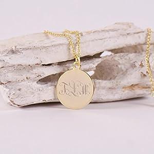 TOGETHER...Namenskette, verschlungene Initialenkette, personalisierte Kette mit Gravur - vergoldet