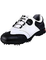 brand new a9625 aceea PGM Chaussures de Golf Imperméables en Cuir Véritable pour des Hommes avec  Le Système ...