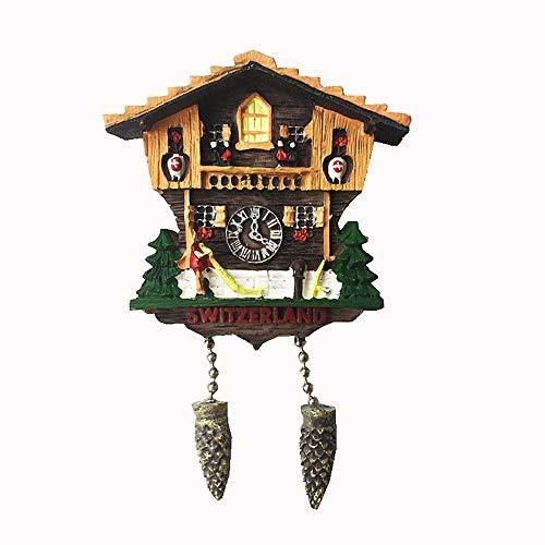 MUYU Magnet Kuckucksuhr Schweiz 3D Kühlschrankmagnet Tourist Souvenir Geschenk Home & Kitchen Dekoration Magnetaufkleber Schweiz Kühlschrankmagnet Kollektion