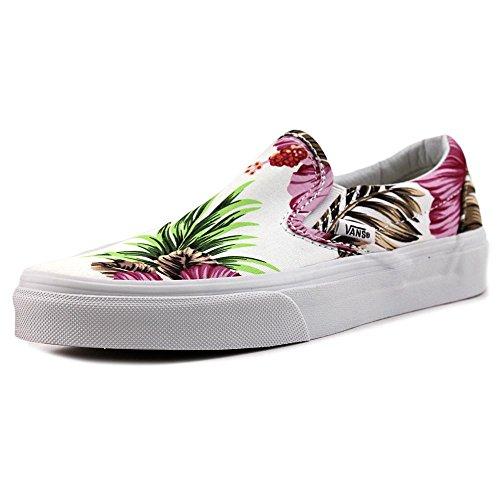 Vans U CLASSIC SLIP-ON, Sneaker Unisex Adulto HAWAIIAN FLORAL WHITE