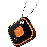 Chengstore RF-V28Colgante para niños y personas mayores con dispositivo de seguimiento GPS, GSM, WIFI, localizador con alarma, audio bidireccional, geocerca, alarma descendente, color Black with Box