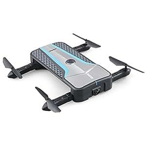 Momola Mini Drone De Poche Pliable JJRC H62 FPV Selfie 720 P Flux Optique Tirant Facilement Facile Transporter 360 ° Cool Tumbling Quadcopter (A)