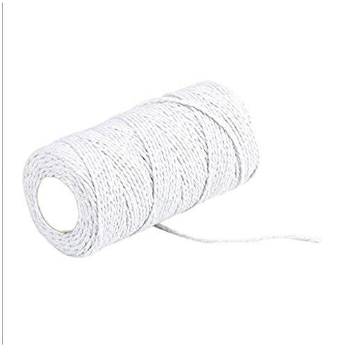 Yazidan 100 m lang / 100 Yard Reine Baumwolle verdreht Schnur Seil Handwerk Makramee Artisan String 2mm farbiges Baumwollseil -