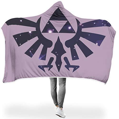 NiTIAN Zelda SerieWearable Hooded Throw Wrap Sternenhimmel Ultra Weich Und Warm Bequemes Kuscheldecke TV Computer Werfen Decken Für Kinder White 130x150cm
