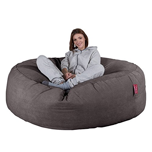 LOUNGE PUG®, 'Mega-Mammoth' Sofa Sitzsack XXL, Schlafsofa, Nadelstreifencord...