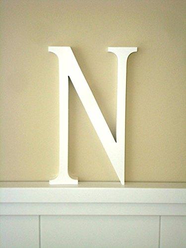 Letra N .Letras decoración Grandes. Letras lacadas blancas. Altura 22.5 cms. Para...