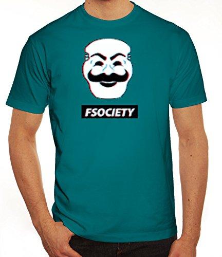 Hacker Serie Herren T-Shirt mit FSociety Motiv von ShirtStreet Diva