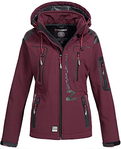 Geographical Norway Tislande Damen Softshell Jacke Burgundy Gr. XL