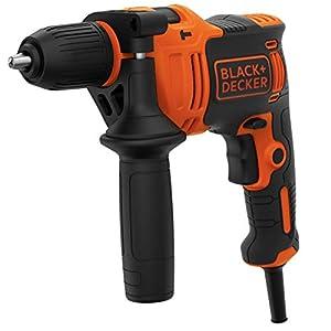 Black+Decker BEH710 1-Gang Schlagbohrmaschine (710W, Schlagbohrer, 13mm Schnellspannbohrfutter, konstanter Rechts…