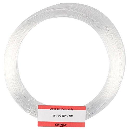 CHINLY 0,75 mm 100M/rollo de cable de fibra óptica de plástico resplandor final de PMMA de la estrella del cielo del techo hasta el final conductor llevado luz del motor