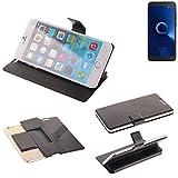 K-S-Trade Schutz Hülle für Alcatel 1C Single SIM Schutzhülle Flip Cover Handy Wallet Case Slim Handyhülle bookstyle schwarz