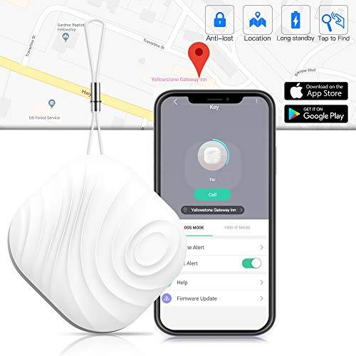Schlüsselfinder Key Finder - Luxsure Nut 3 Anti-Lost Mini Wireless Tracker für Schlüssel Handy Wallet Pet Geldbörse Gepäck Locator mit App-Steuerung Erinnerung für iPhone IOS Android(Eine) Ipod Wireless Remote Control