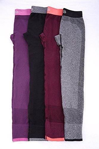 GoodNight Pantaloni di Yoga Leggings di allenamento delle calzamaglia delle donne Rosso scuro
