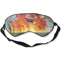 Comfortable Sleep Eyes Masks Cloud Whales Pattern Sleeping Mask For Travelling, Night Noon Nap, Mediation Or Yoga preisvergleich bei billige-tabletten.eu