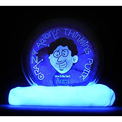 Thinking Putty - brillan en la oscuridad - 10.2cm - Aura - You Can Incluso Enfriar Trucos & Resplandor Para Hours