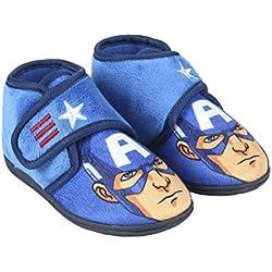 Avengers Capitán América - Zapatillas de Estar por casa Slip Media Bota (25 EU)