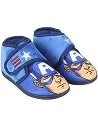Avengers Capitán América - Zapatillas de Estar por casa Slip Media Bota