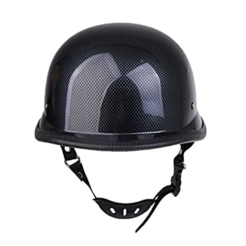 Sharplace Classic Style Motorcycle Bike Rider Comfortable Half Face Helmet Carbon Fiber Color - M