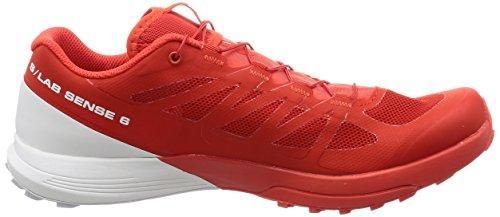 Salomon New S-Lab Sense 6 Chaussures de Course à Pied Pour Hommes Chaussures de Sport Rouge Racing Red, White, White