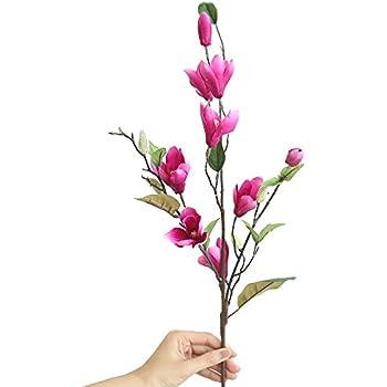 Decorazioni Natalizie Con Foglie Di Magnolia.Andouy Artificiale Fiori Finti Foglia Magnolia Floreale