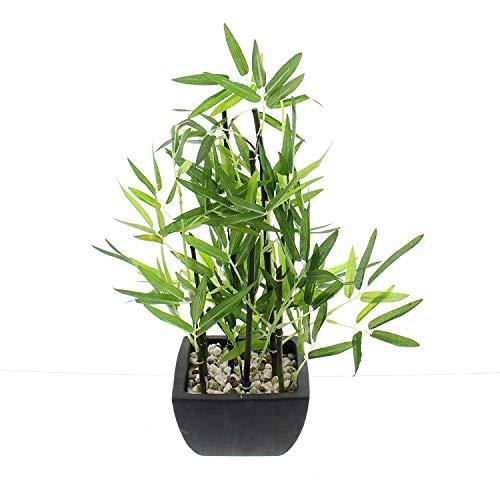 Deko Bambus im Topf, 45 cm hoch, Kunstpflanze