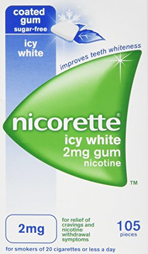 Nicorette Icy White Gum 2 mg, 105 Pieces