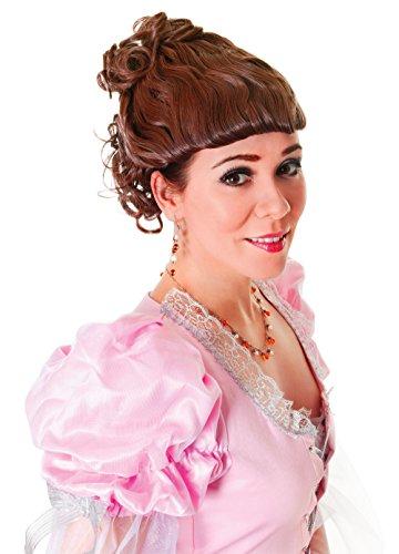 Damen Viktorianische Dame Braune Perücke Zubehör für Edwardianisch Dickensian Kostüm Perücke