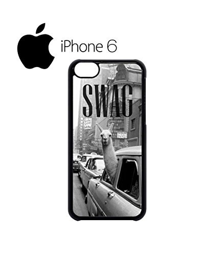 LLama Lama Glama Hipster Swag Mobile Phone Case Back Cover Coque Housse Etui Noir Blanc pour iPhone 6 White Noir