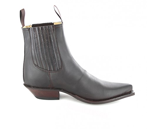 Fashion Boots BU1008 Braun-Brown Damen & Herren Westernstiefelette Marron