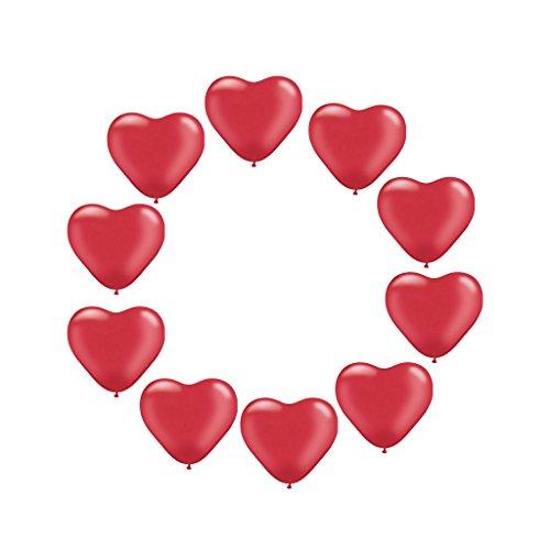 Gazechimp 10 Pcs Globos de Látex Amor en Forma de Corazón para Nupicas Celebración de Cumpleaños Decoración de Fiesta - Rojo