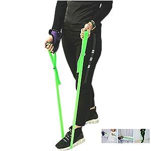 Leg Lifter Strap – Trainingsgürtel für obere Gliedmaßen mit Fingerhandschuhen, ältere Menschen, Behinderung, Behinderung – Long-Band-Mobilitätshilfe für Auto, Bett, Couch, Hüftersatz und Rollstuhl