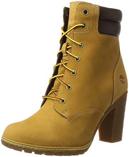 Timberland Tillston 6 inch Double Collar, Stivali Donna, Giallo (Wheat), 40 EU