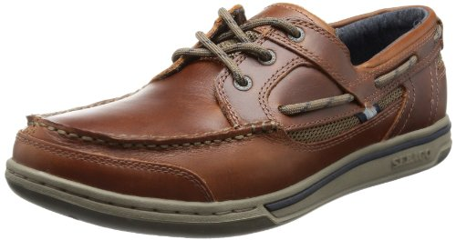 Sebago Triton Three Eye - Scarpe da Barca Uomo, Marrone (Brown Oiled Waxy Lea), 42 EU