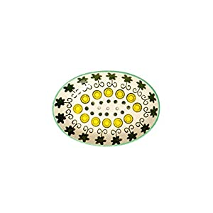 – Jabonera Luna de cerámica con agujeros para el drenaje de agua 14 x 9,5 x 2 cm