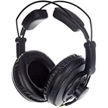Superlux HD668B auricular - Auriculares (Circumaural, 10 - 30000 Hz, 98 Db, Alámbrico, 3m, Oro) Negro