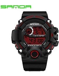 406c6fefcb9f sportuhr Sanda Reloj electronico Reloj Hombre Impermeable de los Deportes  de Hombres jóvenes Corriendo Marea Mesa