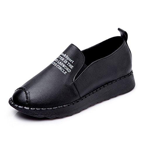 XTIAN , chaussures compensées femme Schwarze Buchstaben