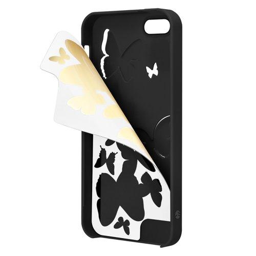 SwitchEasy Kirigami Housse de protection pour iPhone 5 Cœur Pure Love Papillon Night Wings