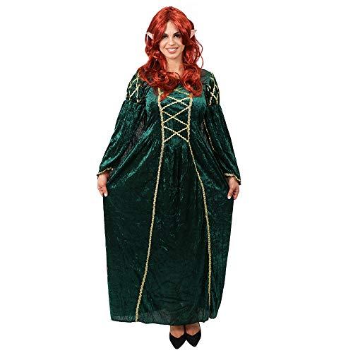 Kostüm Frau Hobbit - ILOVEFANCYDRESS MAGISCHE Elfen FEEN Pixie ZWERGEN KOSTÜM VERKLEIDUNG VARIATIN=Film UND FERNSEHN=Frauen MÄNNE ODER Paar=Fasching Theme=Frau/ROTE PERÜCKE+Ohren+GRÜNES Kleid/STANDART