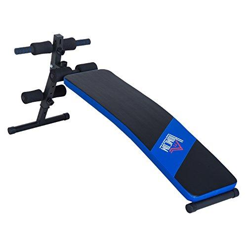 Foto de HOMCOM Carga 110kg Banco de Musculación Banco Abdominal Pesas Plegable Ajustable a 4 Niveles para Fitness Entrenamiento Acero