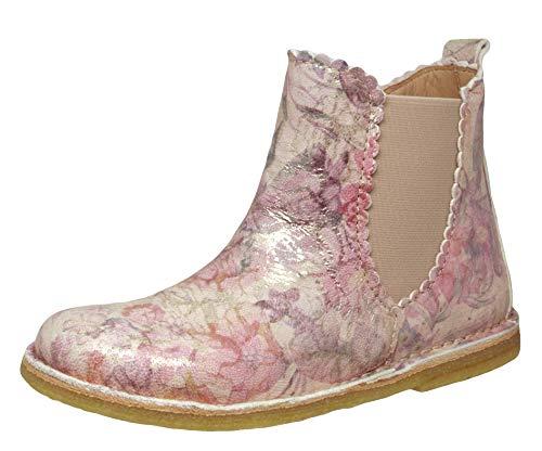 Bisgaard Mädchen 50234.119 Chelsea Boots, Mehrfarbig (Creme Flowers 3010), EU 35