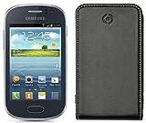 Celly Étui avec rabat pour Samsung Galaxy fame-black